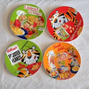 Set of 4 Rice Crispies/Frosted Flakes Plates